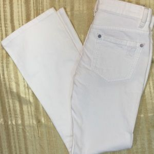 BCBG White Boot Cut Jeans